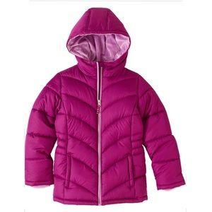 Faded Glory Girls Quilted Bubble Jacket Size L